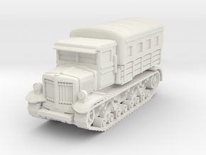 Voroshilovets tractor (covered) scale 1/87 in White Natural Versatile Plastic