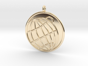 Planetology Symbol in 14K Yellow Gold