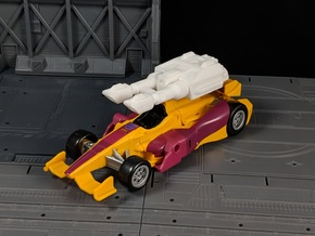 TF Combiner Wars Dragstrip Car Cannon in White Natural Versatile Plastic
