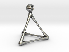 TETRAHEDRON in Antique Silver