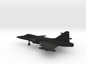 Saab JAS.39C Gripen in Black Natural Versatile Plastic: 1:200