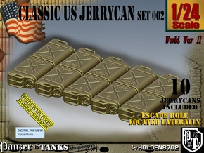 1/24 US Jerrycan Hollow side Set002 in White Natural Versatile Plastic