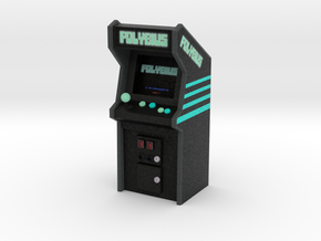 "3 3/4"" Scale Polybius Arcade Game in Natural Full Color Sandstone: Medium"