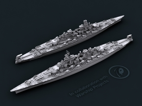 USN CC1 Lexington [1944] (late-war 14x 5/38) in White Natural Versatile Plastic: 1:1800