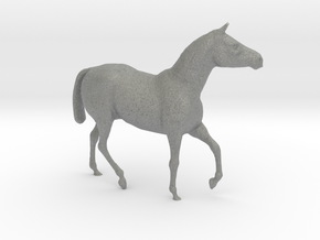 HO Scale Walking Draft Horse in Gray Professional Plastic