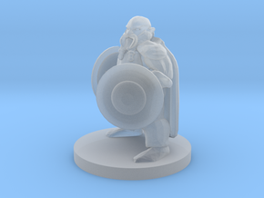 Dwarf Fighter with Two Shields in Smooth Fine Detail Plastic