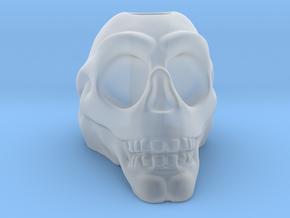 Stylized Skull 3D Pen Holder in Smooth Fine Detail Plastic: Small