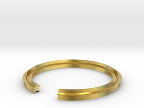 Star 13.61mm in Polished Brass