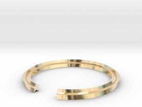 Star 14.86mm in 14k Gold Plated Brass