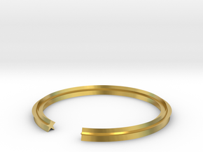 Star 16.92mm in Polished Brass