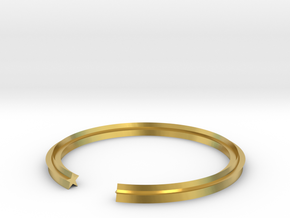 Star 17.35mm in Polished Brass