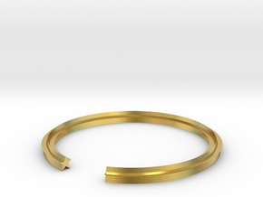 Star 18.19mm in Polished Brass