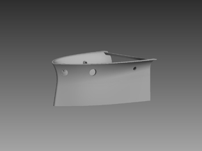 P boat Forward steering compartment 1/48 in Gray Professional Plastic