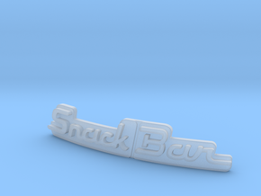 Snackbar v1.5 & v2.5 - Logo Insert in Smooth Fine Detail Plastic