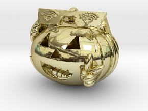 GVC Peace Pumpkin in 18k Gold Plated Brass
