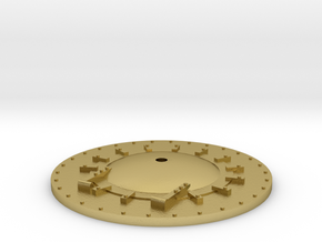 """63"""" HO/HOn3 Smokebox Front in Natural Brass"""