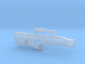 cyberpunk - near future laser rifle in 1/6 scale in Smooth Fine Detail Plastic