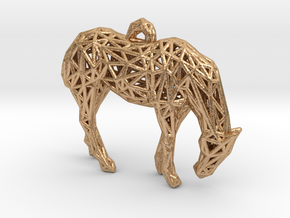 Horse Cage in Natural Bronze