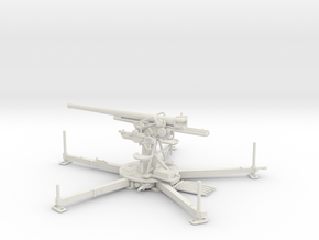 1/35 IJA Type 88 75mm Anti-aircraft Gun in White Natural Versatile Plastic