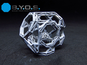 BYOS PART FRAME HEX WIRED SIX LINKS in Smooth Fine Detail Plastic