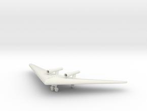 (1:144) Horten Ho VII with Argus Pulsejets  in White Natural Versatile Plastic