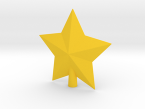 Arcade Star Tree Topper in Yellow Processed Versatile Plastic