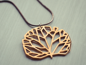 Tree pendant in Polished Brass