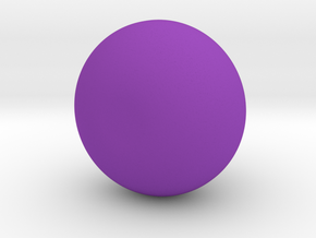 Angled Potion Vase in Purple Processed Versatile Plastic