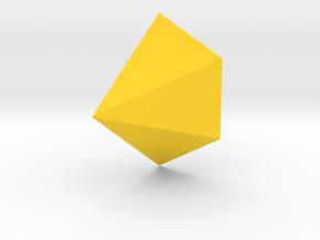 Cut Diamond Wall Planter in Yellow Processed Versatile Plastic