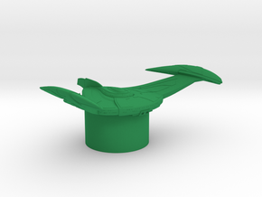 Romulan Star Empire - Bird-of-Prey in Green Processed Versatile Plastic