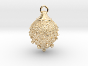 Fractal pendant - Strawberry fields in 14K Yellow Gold