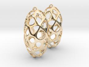 Cell Earrings in 14K Yellow Gold