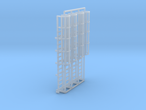 1:100 Cage Ladder 48mm Top in Smooth Fine Detail Plastic