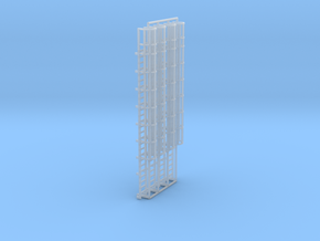1:100 Cage Ladder 83mm Top in Smooth Fine Detail Plastic