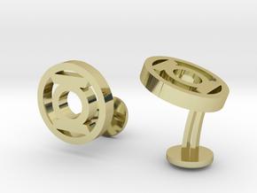 Green Latern Cufflinks in 18k Gold Plated Brass