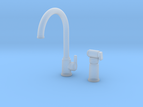 Bundle Contemp Sprayer & Single Faucet  in Smooth Fine Detail Plastic