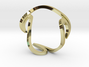 SEA WAVES size 16  in 18K Yellow Gold