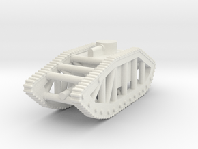 Skeleton Tank (USA) in White Natural Versatile Plastic