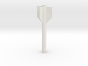 AIM 9 Side winder aft fuse in White Natural Versatile Plastic