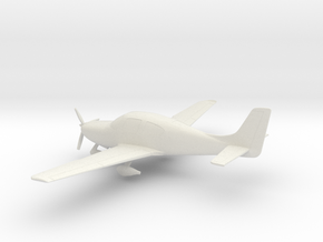 Cirrus SR22 in White Natural Versatile Plastic: 1:72