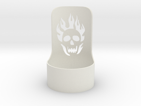 halloween tealight skull in White Natural Versatile Plastic