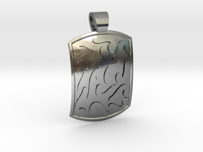Ethnic comma-style [pendant] in Polished Silver