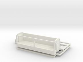 Bude 10 m dreiseitig für 1:220 (z scale) in White Natural Versatile Plastic