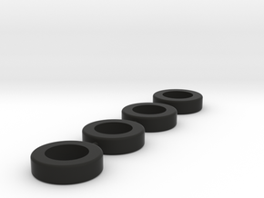 HO Tire tree in Black Natural Versatile Plastic