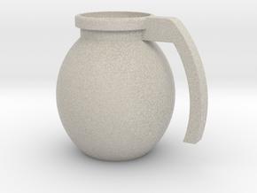 """Mug """"Grenade"""" in Natural Sandstone"""