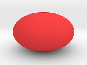 Oblate Sphere in Red Processed Versatile Plastic