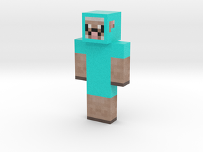 blue sheep | Minecraft toy in Natural Full Color Sandstone