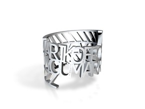 Ring Poem 27207 in White Strong & Flexible