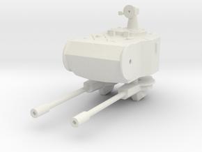 Marksman AA turret 1:87 in White Natural Versatile Plastic