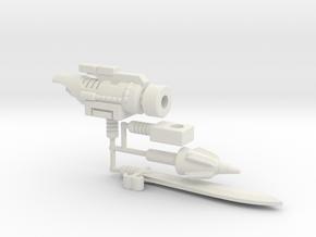 Dinobot Slug's Arsenal, 5mm (PotP) in White Natural Versatile Plastic